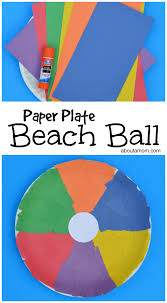 paper plate beach ball craft about a mom