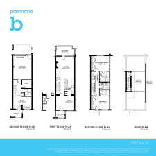 The Panorama Floor Plan by The Panorama Townhomes In Ottawa Greystone Village