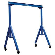 vestil 2 000 lb 15 ft long fixed steel gantry crane fhs 2 15