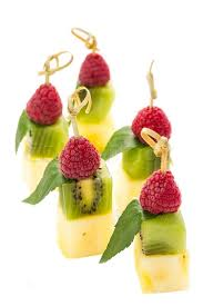 canapes fruit plate of fruit dessert canape stock photo colourbox