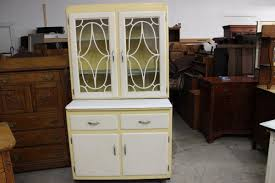 Kitchen Hoosier Cabinet Most Unusual Kitchen Hoosier Cabinet W Lattice Glass Front