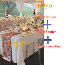 valentine s day table runner 12x120 inch 30x300cm sparkly rose gold sequin table runner for