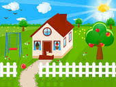 Backyard Clip Art House And Yard Clipart Collection