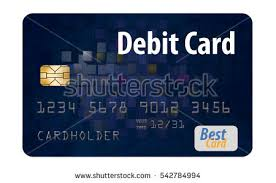 debit card for debit card isolated on white background stock illustration
