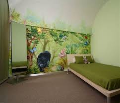 chambre jungle enfant decoration chambre bebe theme jungle 8 stickers panda pour