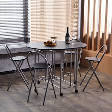 folding dining room tables amazon com homycasa folding set of 4 dining table and chairs