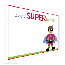 superhero birthday gift tags and card product categories