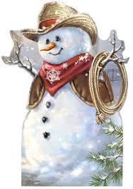 cowboy snowman dona gelsinger cardboard cutout life size standup