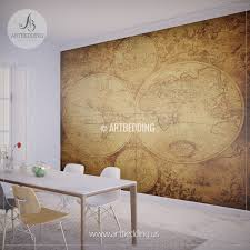 Home Decor World by Vintage Map Wall Mural Self Adhesive Photo Mural Artbedding