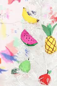 diy papier mâché fruit ornaments design sponge