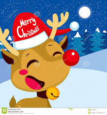 merry christmas rudolph stock vector image illustration 45290070