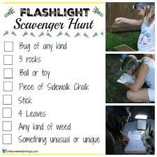 backyard treasure hunt flashlight scavenger hunt life is sweeter by design
