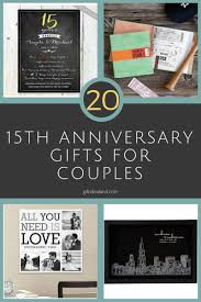 wedding anniversary gift ideas for 50 15th wedding anniversary gift ideas for him