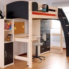 full size wood loft bed with desk designing home diy full size