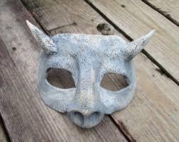 Gargoyle Costume Costume Gargoyle Mask Masquerade Mask Silver And Grey Larp