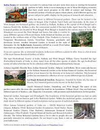 List Of Botanical Gardens Indian Botanical Gardens A Home To Plant Species
