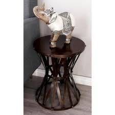 Metal Accent Table Modern Metal And Wood Accent Table In Brown And Black 56983 The