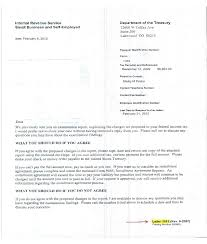 best photos of irs cover letter sample sample irs response