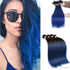 blue hair extensions 2018 peruvian ombre black and blue hair extensions