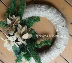 burlap christmas wreath easy burlap christmas wreath grandparentsplus