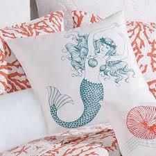 u0026 f cora square pillow mermaid