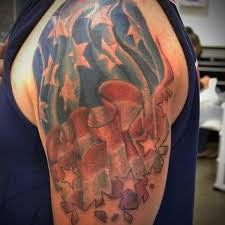 american flag tattoo on left shoulder tattoos book 65 000