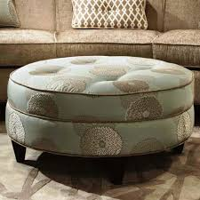 velvet tufted round ottoman with storage zoom pleated tufted