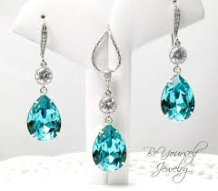turquoise bridal earrings teal wedding jewelry sea green bridal earrings teardrop
