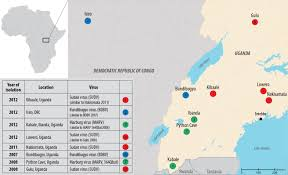 Uganda Africa Map by Visiting Bat Inhabited Caves In Africa Increases Filovirus