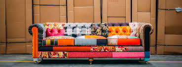 sofa patchwork patchwork liam the colorful chesterfield sofa joybird