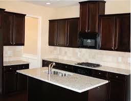 Cherry Kitchen Cabinets With Granite Countertops Kitchen Dark Cabinets Light Granite With Marble Backsplashes Then