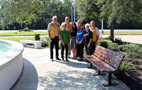 humble civic center u0027s new bench honors lions club international