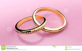 love rings pink images Pair of golden wedding rings connected together forever with jpg