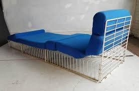 Wire Patio Chairs Pair Of Mid Century Modern Wire Iron Cage Chaise Lounge Patio