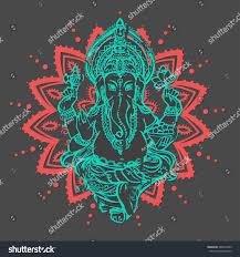 ornament beautiful card lord ganesha image stock vector 380418499