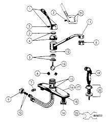 kitchen faucet diagram peerless kitchen faucet parts model 8400 sears partsdirect