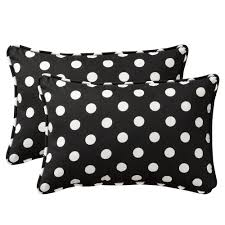 Black And White Patio Cushions by Black And White Polka Dot Outdoor Pillows Pillow Ideas