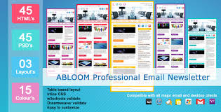 abloom email newsletter by exchanger themeforest