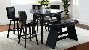 Triangular Dining Table With Bench Black Triangle Benches - Triangular kitchen table