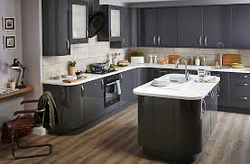 Kitchen Cabinet Doors B Q It Santini Gloss Anthracite Slab Diy At B Q