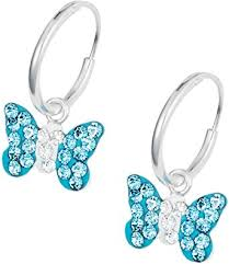nickel free jewelry hypoallergenic sterling silver aqua butterfly