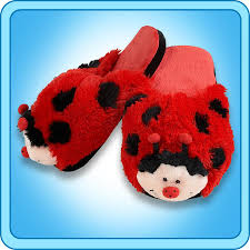 slippers ms ladybug slippers my pillow pets the official