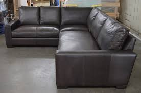 braxton mini leather l sectional sofa in italian berkshire