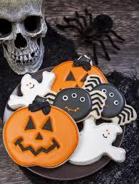 spooky cookie halloween cookie decorations ghost pumpkin