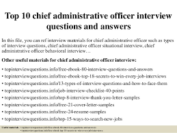 top 10 chief administrative officer interview questions and answers 1 638 jpg cb u003d1427523743