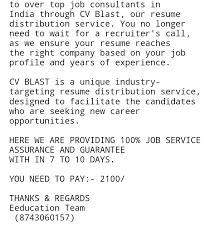 Resume Blast Service Jsr Infotech Solution U2014 Job