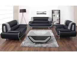 fauteuil canapé canapé et fauteuil en simili noir et gris ou nigel