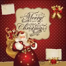 santa claus greeting cards 5 free vector graphic