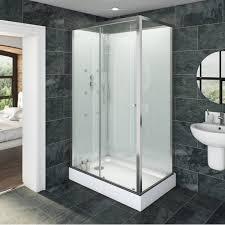 v6 rectangular glass backed shower cabin 1200 x 800 bathroom