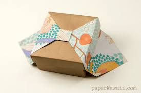bow boxes origami box with bow tutorial paper kawaii